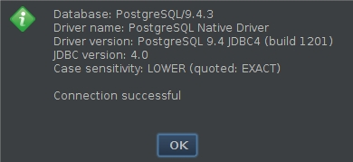PostgreSQL SSH success